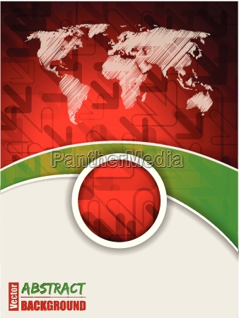 abstract red green brochure with arrows