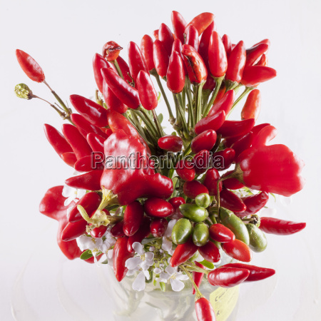 red peppers bunch