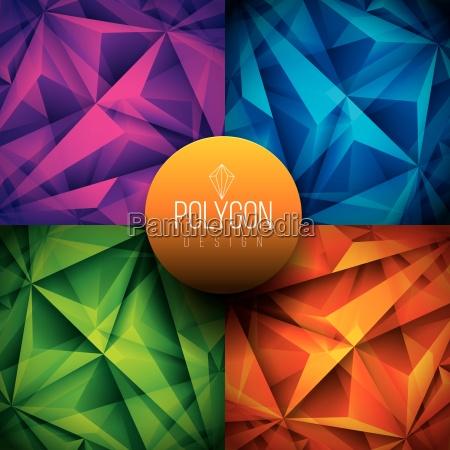 polygonal backgrounds