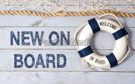 nuevo a bordo bienvenido