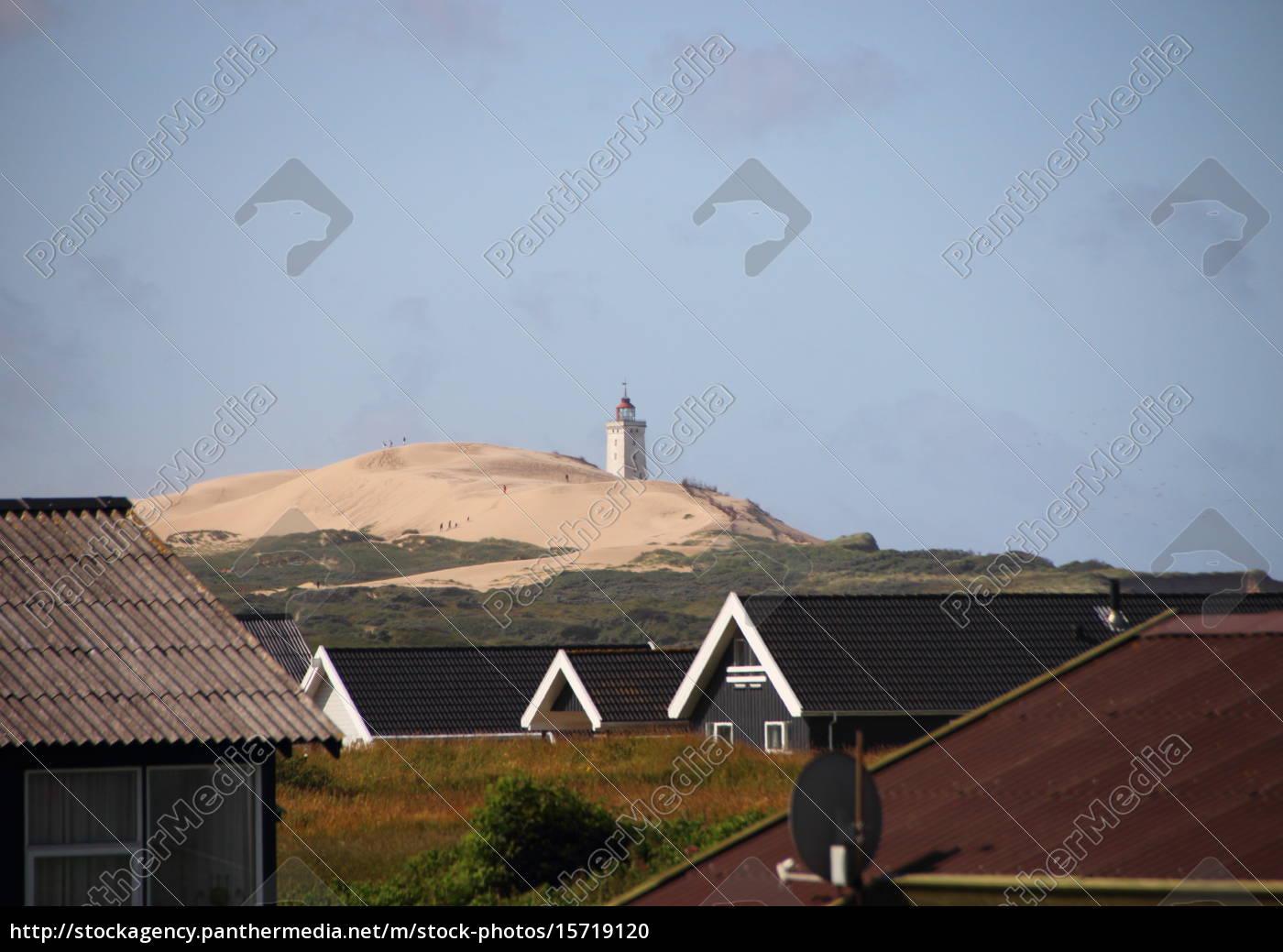 paisaje, con, casas, de, verano, y - 15719120