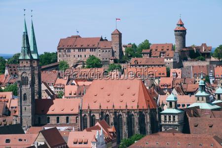 nuremberg nuremberg castillo sebalduskirche casco antiguo
