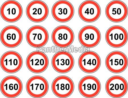 limite de velocidad de la senyal
