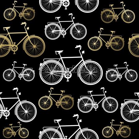 concepto de oro de bicicleta patron