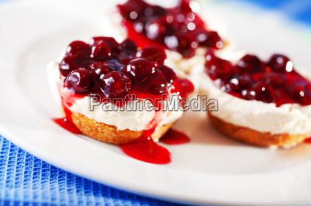 comida dulce fruta pastel tortas crema