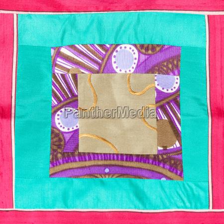 detalle verde ornamento plaza decoracion textil