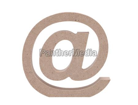 simbolo de correo electronico en fondo