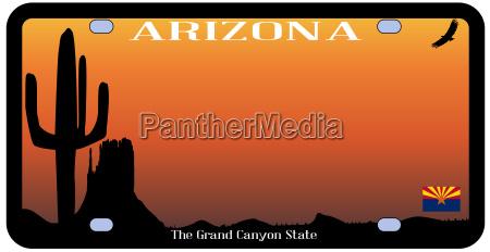 desierto vehiculo bandera arizona estado licencia