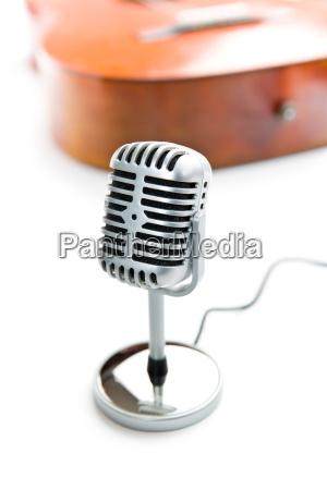 sonido radio chispa microfono viejo clasico