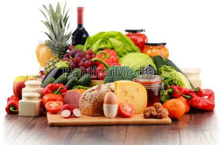 los alimentos organicos incluyendo vegetales de