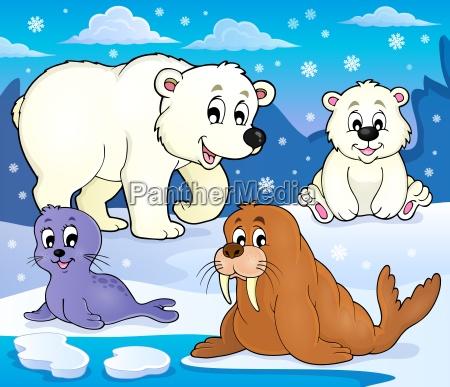 various arctic animals theme image 1