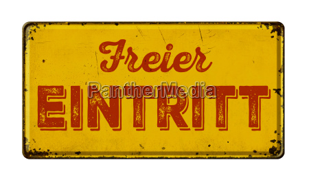 old rusted tin sign free