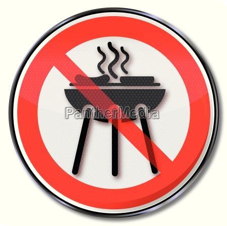 muestra de la prohibicion para una