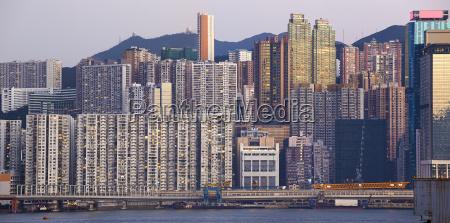 el hermoso paisaje urbano de hongkong