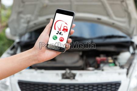 aplicacion de servicio de coche de