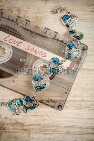 cinta de cassette de audio y
