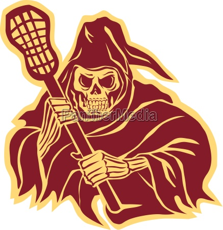grim reaper lacrosse defense pole retro