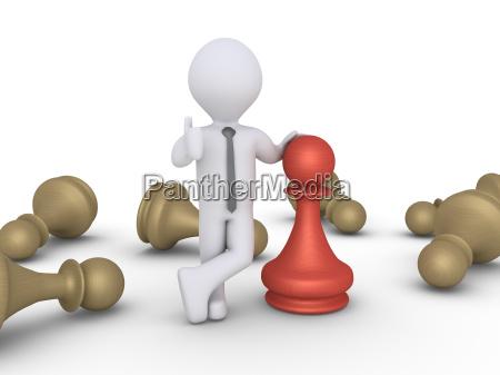 ganador de peones de ajedrez entre