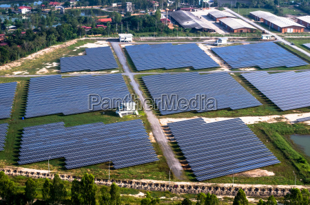 solar farm solar panels from the