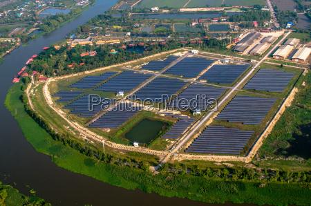 granja, solar, paneles, solares, del, aire - 16172055