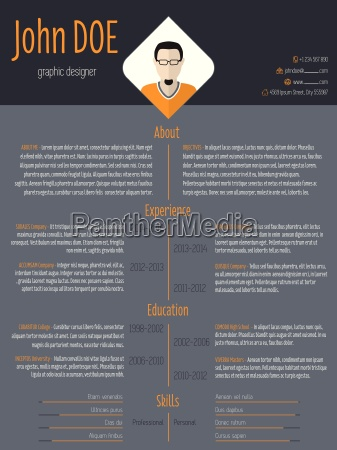 cool resume cv template with dark