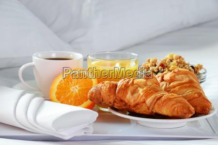 comida espacio cama hotel jugo cafe