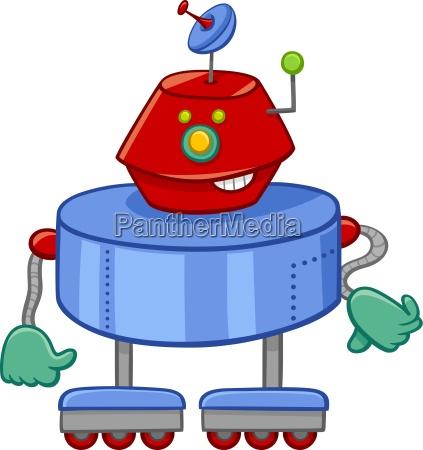 personaje de dibujos animados robot divertido