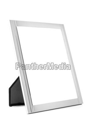 aluminum decorative photo frame on white
