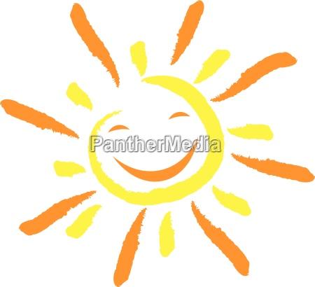 sol y sonrisa cara risa
