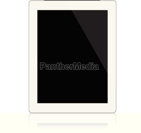 mockup white digital tablet isolated on