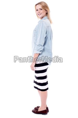 pretty woman in trendy wear
