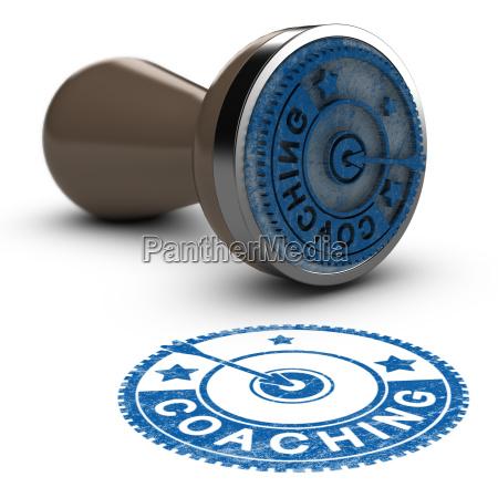 sello de goma de coaching