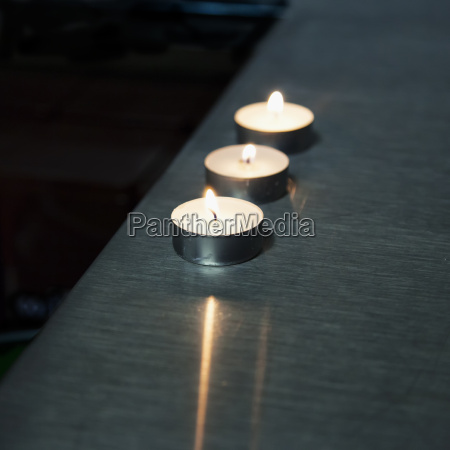 candles over bar counter