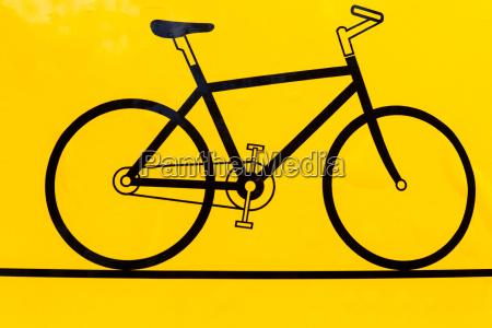 icono del contorno de la bicicleta
