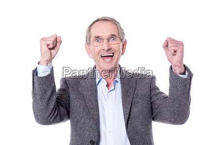 successful aged man