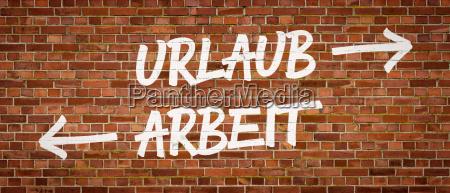 font on brick wall vacation