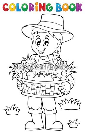 colorear los agricultores libro con la