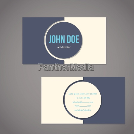 simplistic flat business card with big
