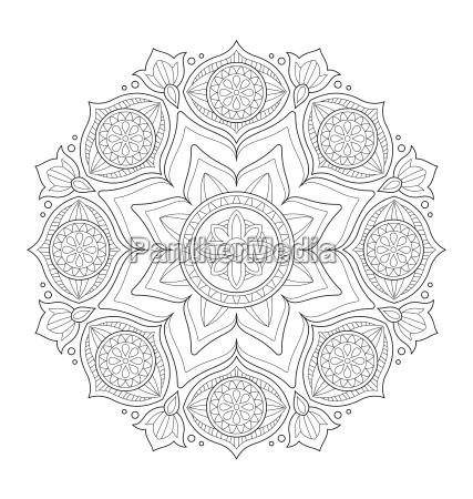 ilustracion de mandala decorativa para colorear