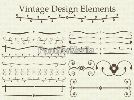 elementos de disenyo vintage