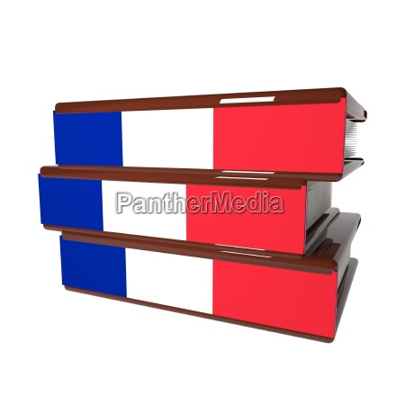 french books isolated over white