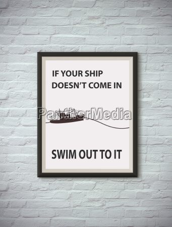 inspirational motivating quote on picture frame