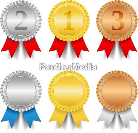 plata ganador medalla bronce