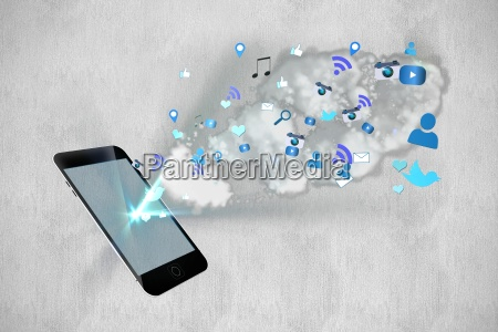 smartphone with cloud computing apps