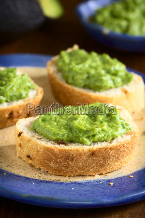 avocado cream on bread
