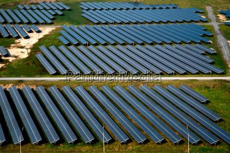 solar panels solar farms aerial photography
