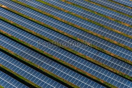 solar farms solar panels aerial photography