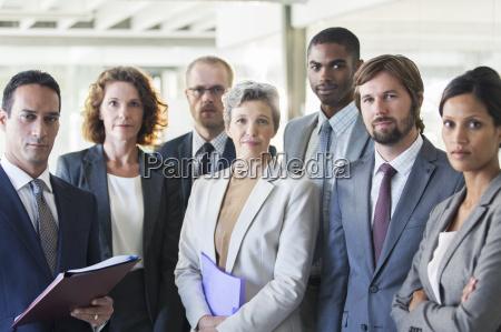 retrato del grupo de exitoso equipo