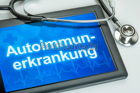 tablet with the diagnosis of autoimmune