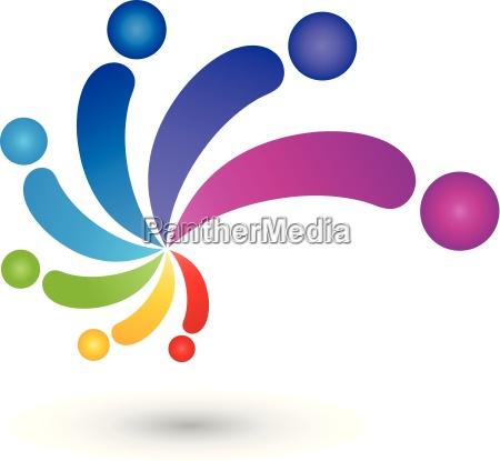 espiral gente coloreado pintor insignia